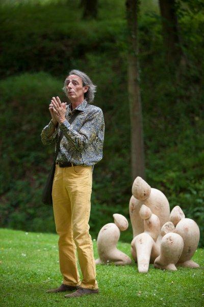 Robert Arnoux aux jardins d'Annevoie
