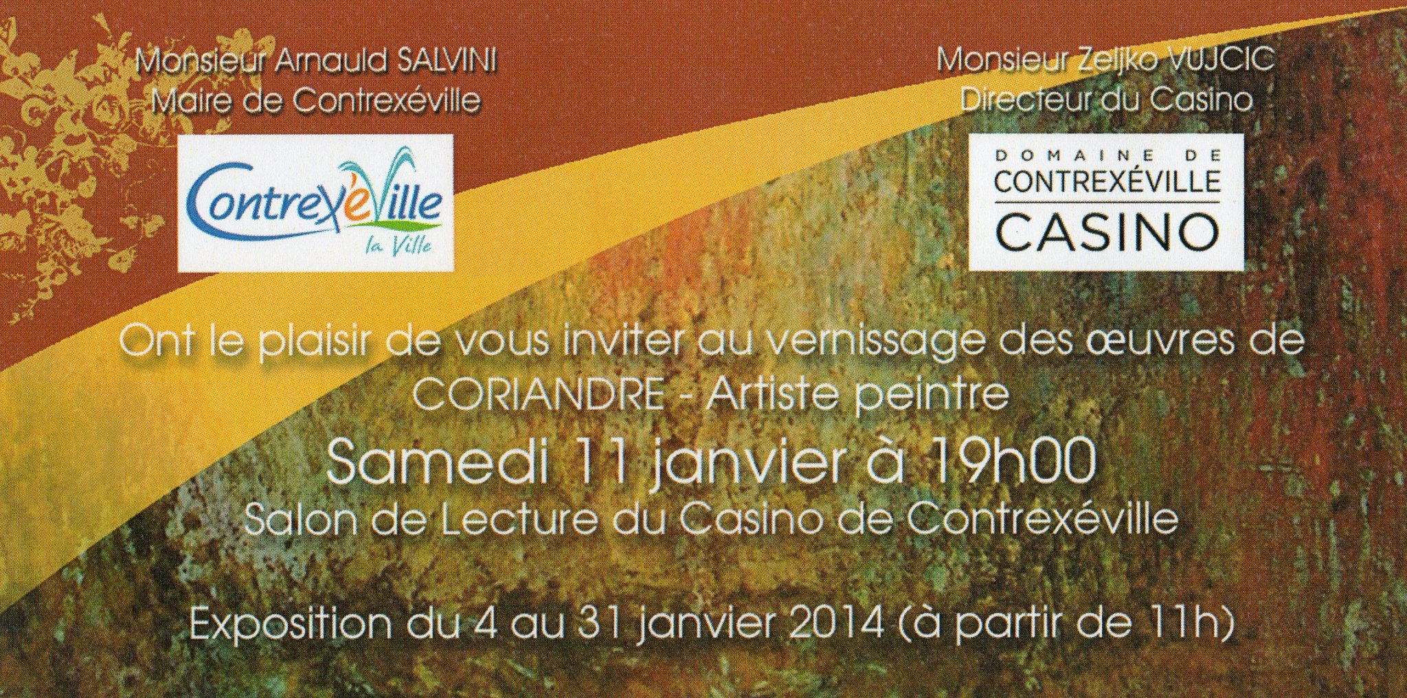 Exposition au Casino de Contrexéville