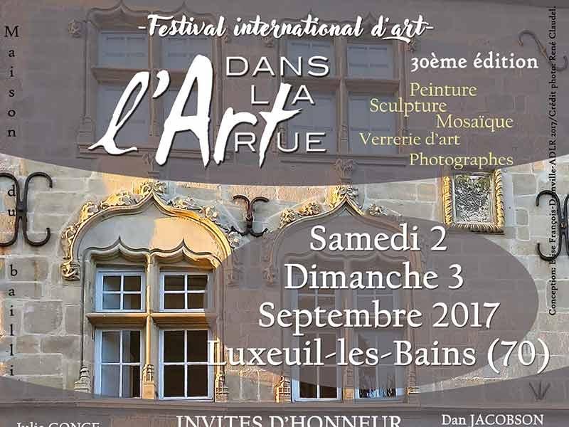 30ème édition du Festival L'Art dans la rue à Luxeuil les Bains