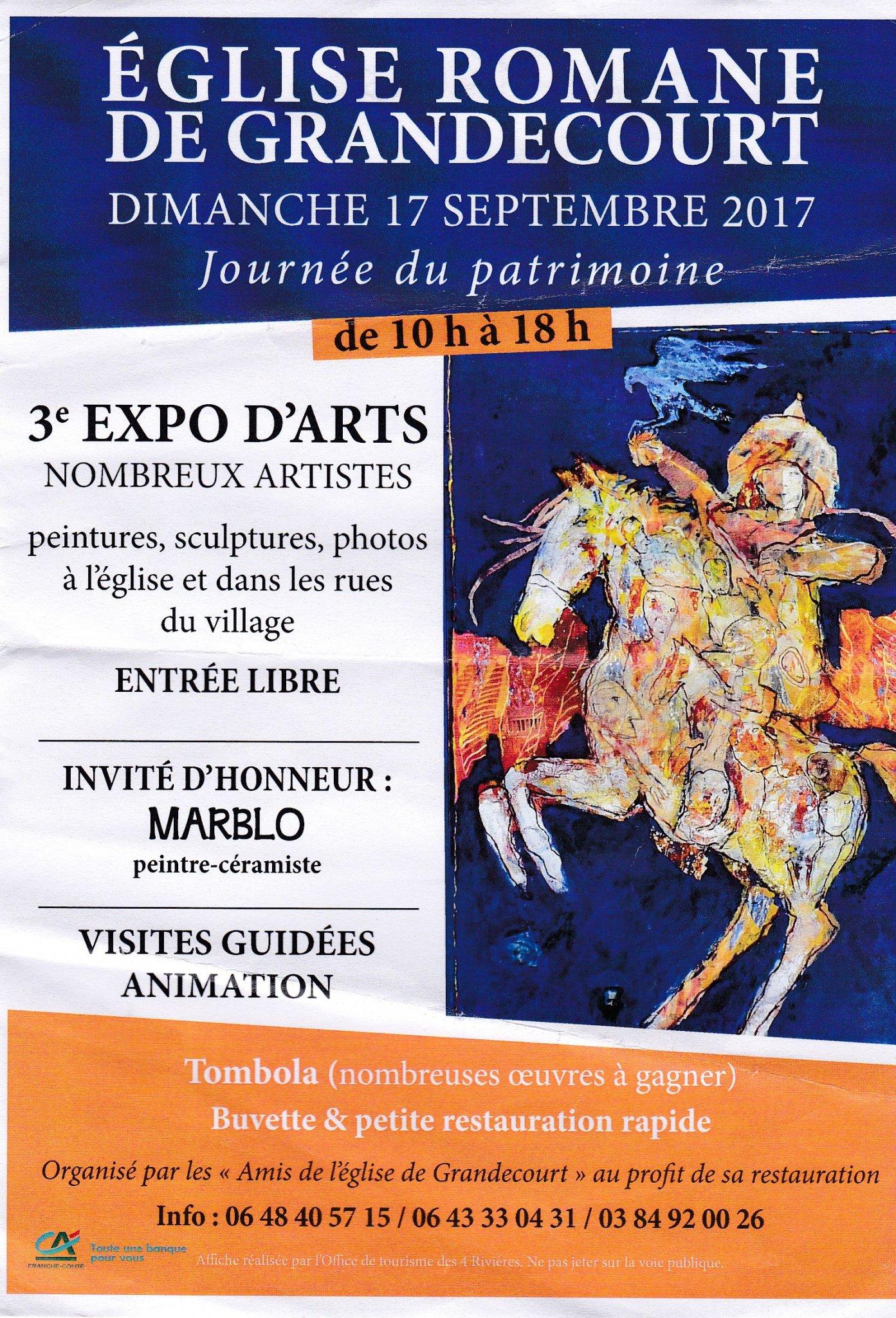 3ème Exposition à Grandecourt (Eglise romane)