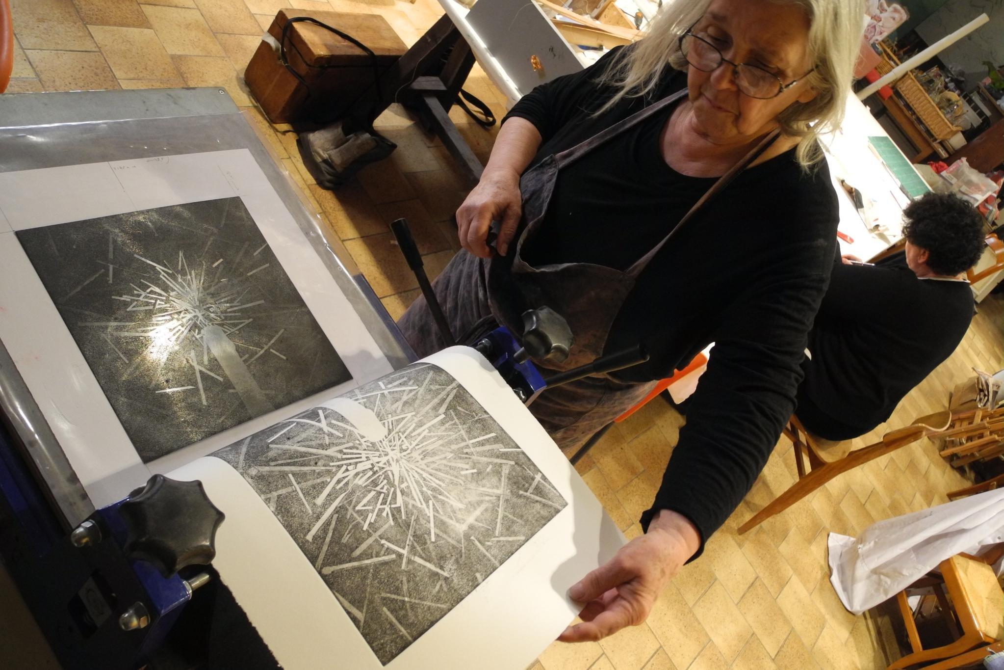 Etape Gravure avec Gerda Adelski