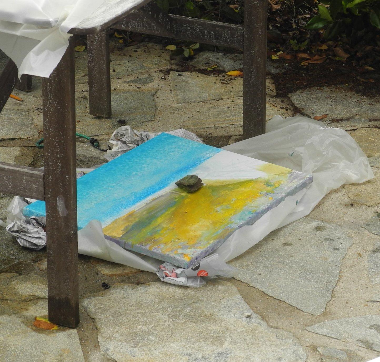 Orientation géologiques flaques peintures