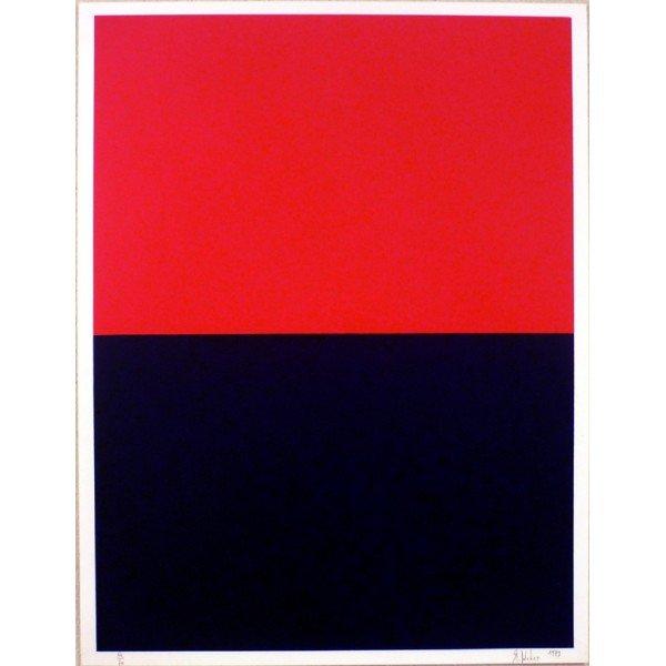 Rouge-Bleu, (sérigraphie Rolland Weber)