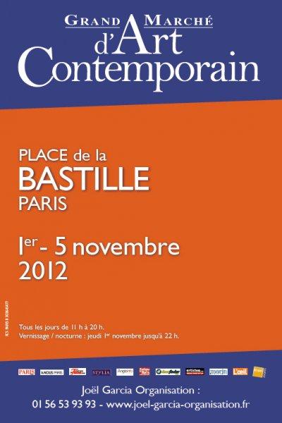 Grand marché d'art contemporain de la place de la Bastille 2012
