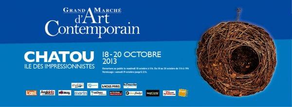 Grand marché d'art contemporain de Chatou octobre 2013