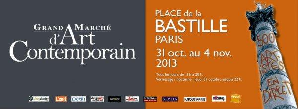 Grand marché d'art contemporain de Bastille novembre 2013
