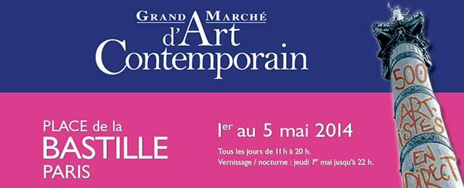 Grand Marché d'art Contemporain du 1 au 15 mai 2014
