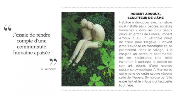 Robert Arnoux sculpteur de l'âme à Megève