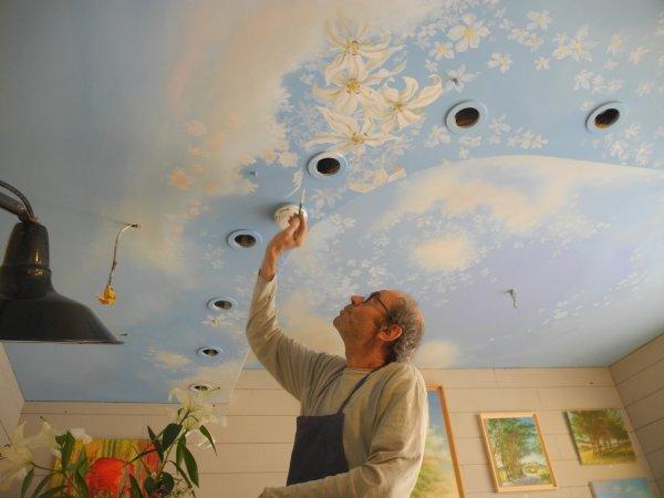 Juin 2016, improvisation décors du plafond