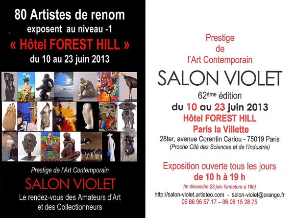 Flyer Salon Violet 2013