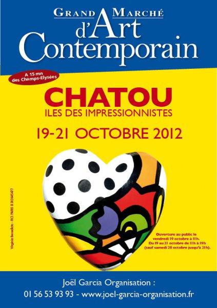 Grand marché d'art contemporain de Chatou Octobre 2012