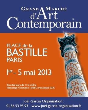 Grand marché d'art contemporain de Bastille mai 2013