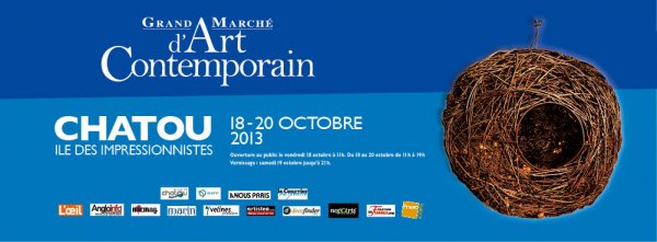 Grand marché d'art contemporain de Chatou octobre 2013