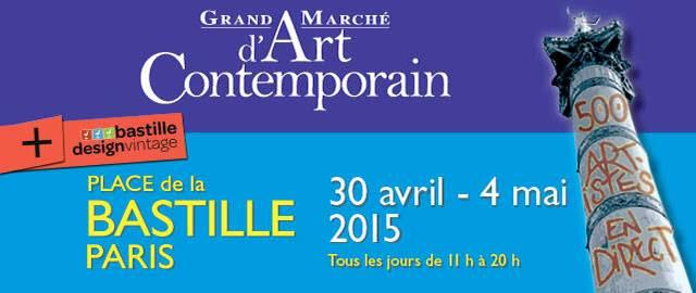 Logo Salon Art Contemporain et Moderne, GMAC Bastille mai 2015